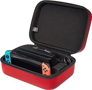 comprar comparacion AmazonBasics - Funda de viaje y almacenamiento de juegos, para Nintendo Switch - Rojo