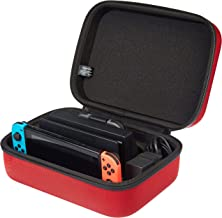 AmazonBasics Travel and Storage Case for Nintendo Switch - Red