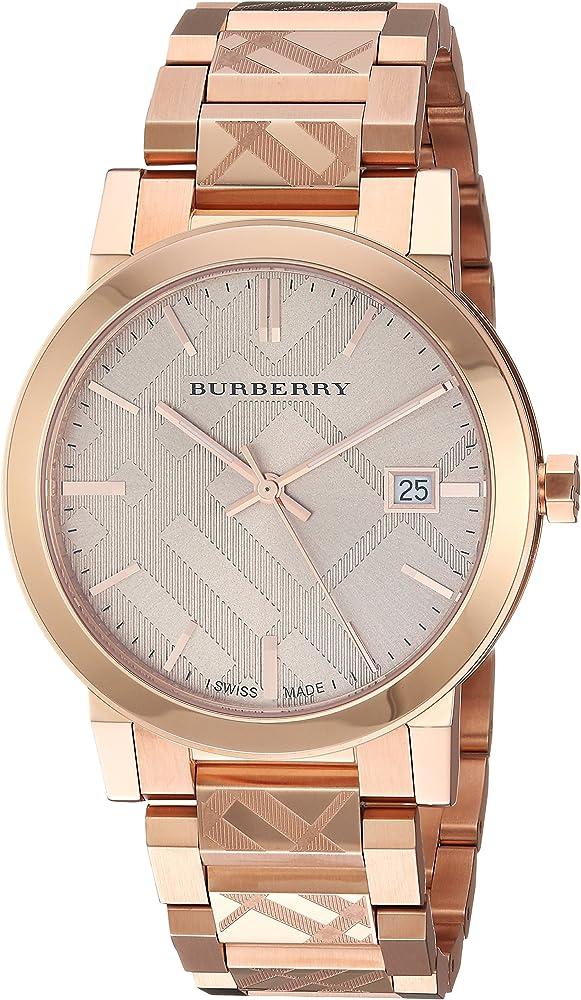 Burberry the city ,orologio per donna,in acciaio e in pvd placcato rosa BU9039