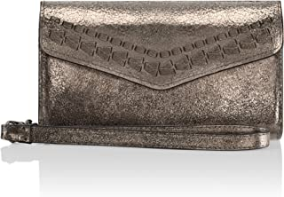 Rebecca Minkoff Wristlet - Whipstitch Tech Wristlet [Credit Card Case] Wallet Case fits Apple iPhone 7 and iPhone 8 - Cracked Leather Anthracite