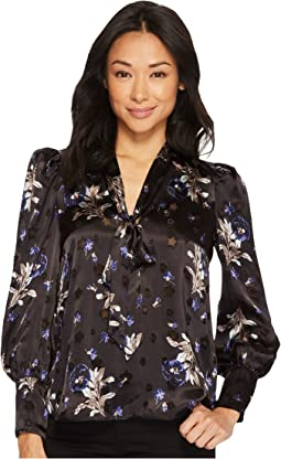 Rebecca Taylor - Long Sleeve Violet Floral Top