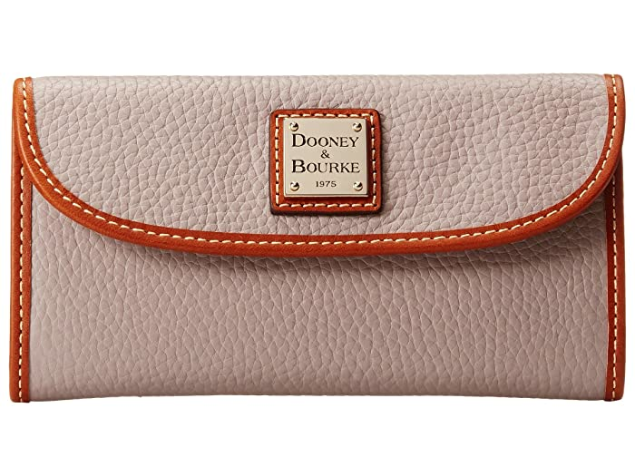 Dooney Bourke Pebble Leather New Slgs Continental Clutch