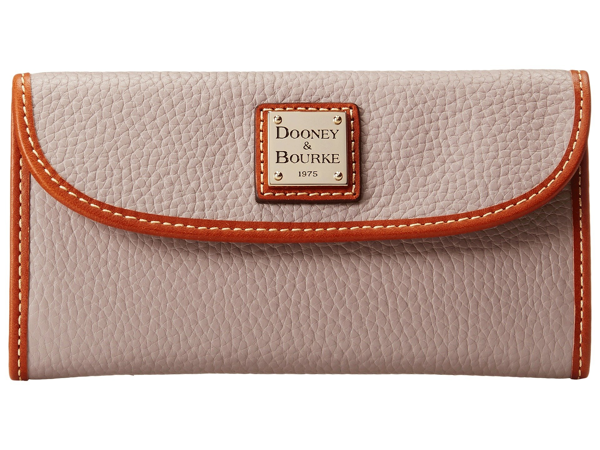 New Leather Dooney amp; Oyster Continental Pebble Clutch Trim Slgs W Bourke Tan wqOIZOrt