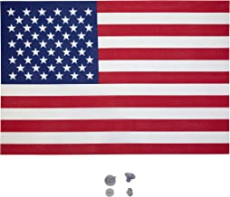 """Betsy American USA Window Flag Kit, 12"""" x 18"""", 2 Suction Cups"""