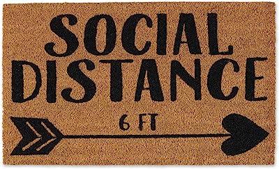 DII Natural Coir Fiber, Non-Slip PVC Backing, Indoor/Outdoor Welcome Home Doormat, 18x30, Social Distance