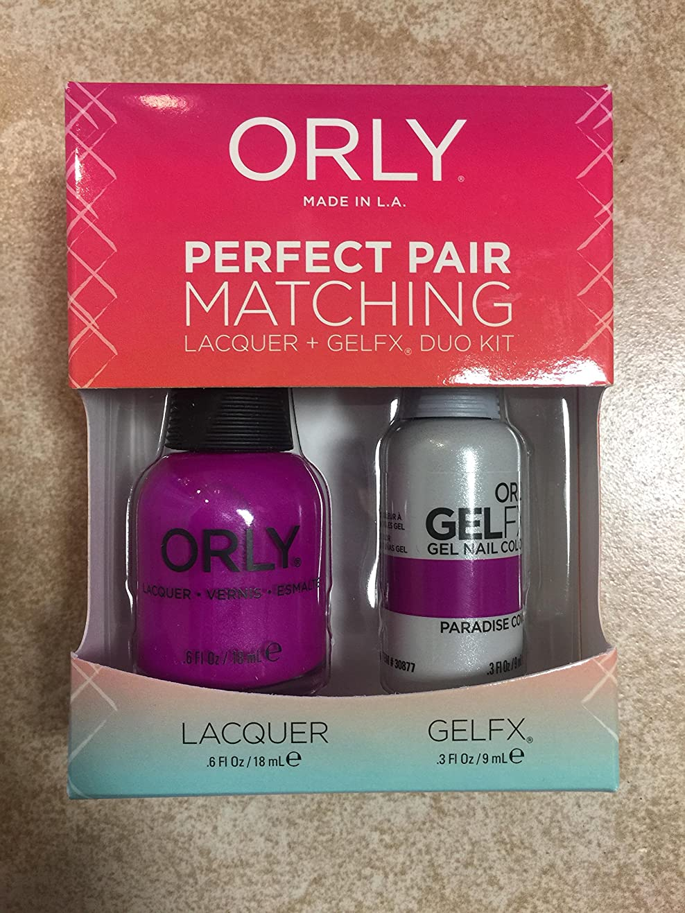 天レタス笑いOrly - Perfect Pair Matching Lacquer+Gel FX Kit - Paradise Cove - 0.6 oz / 0.3 oz