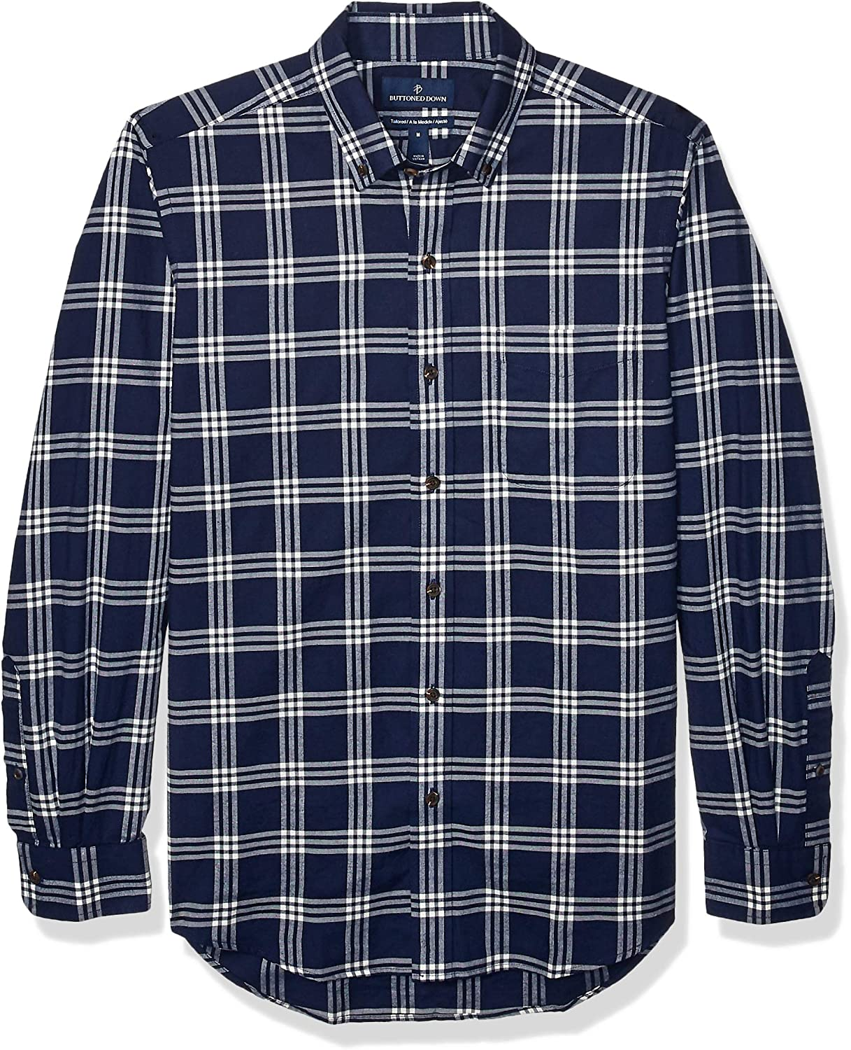 Buttoned Down Men's Tailored Fit Twill Cotton Brushed Sale Max 86% OFF item Pla Supima