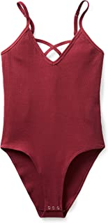 Amazon Brand - Mae Body Cruzado Acanalado para Mujer