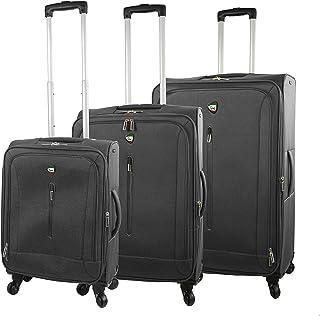 Mia Toro Italy Tena Softside Spinner Luggage 3pc Set, Gray, One Size