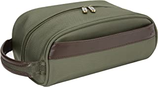 Travelon Classic Plus Top Zip Toiletry Kit, Olive, One Size