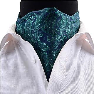 GUSLESON Men's Cravat Self Tie Paisley Jacquard Woven Floral Luxury Ascot