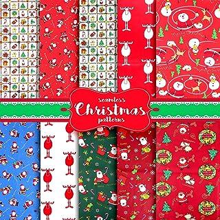 Muñeco de Nieve Navidad Impresa Roja Algodón Novedad Patchwork Banderines De Tela Artesanal