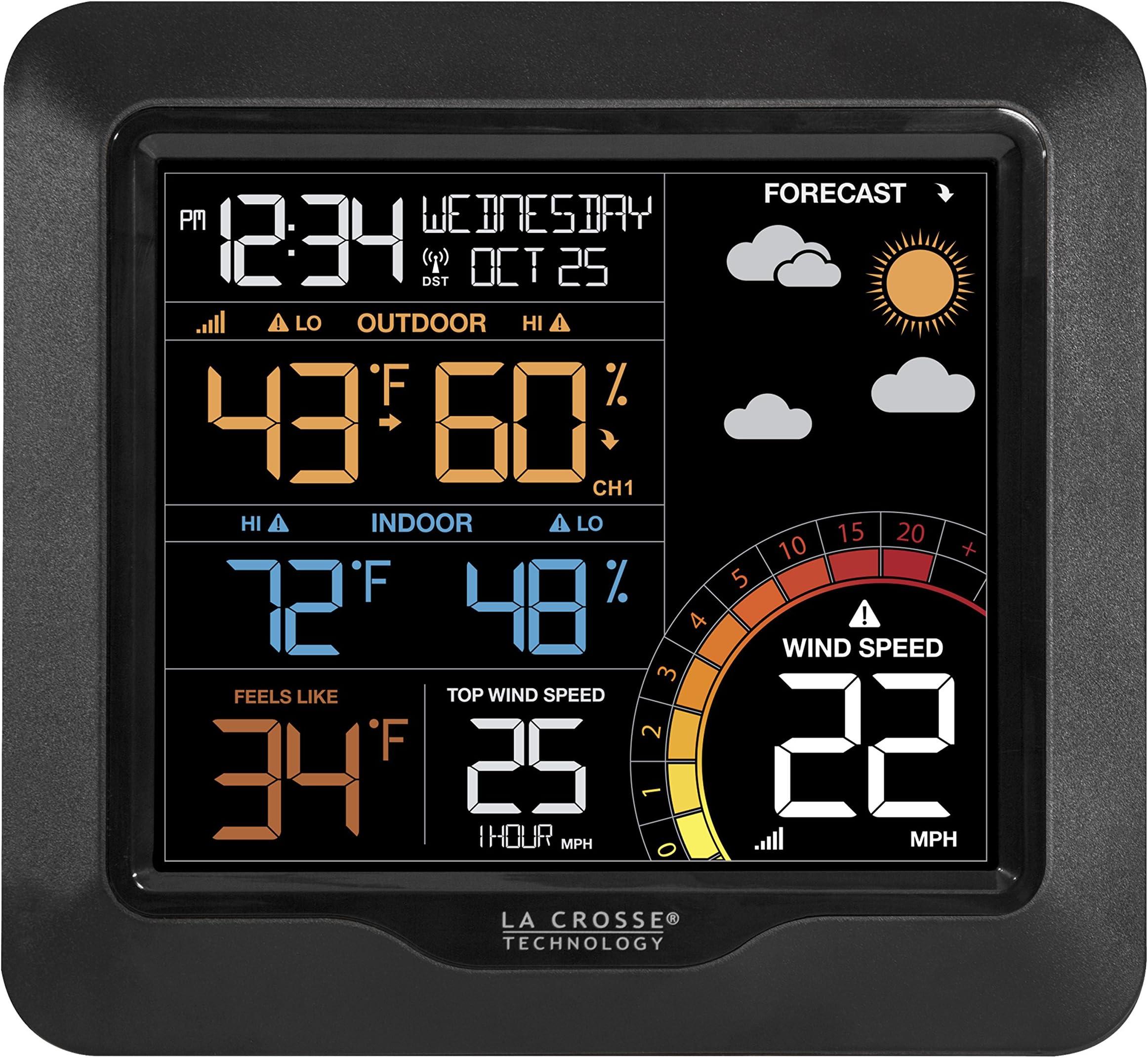 La Crosse Technology 327-1417 Color Wind Speed Weather Station