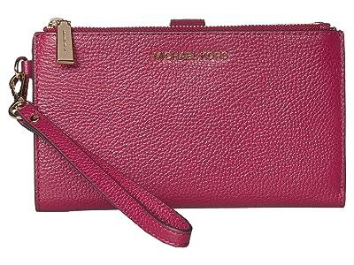 MICHAEL Michael Kors Double Zip Wristlet (Berry) Wristlet Handbags