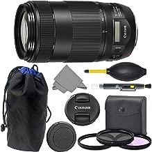 Canon EF 70-300mm is II: (0571C002) Canon EF 70-300mm f/4-5.6 is II USM Lens + AOM Pro Starter Bundle Combo Kit - International Version (1 Year AOM Warranty)
