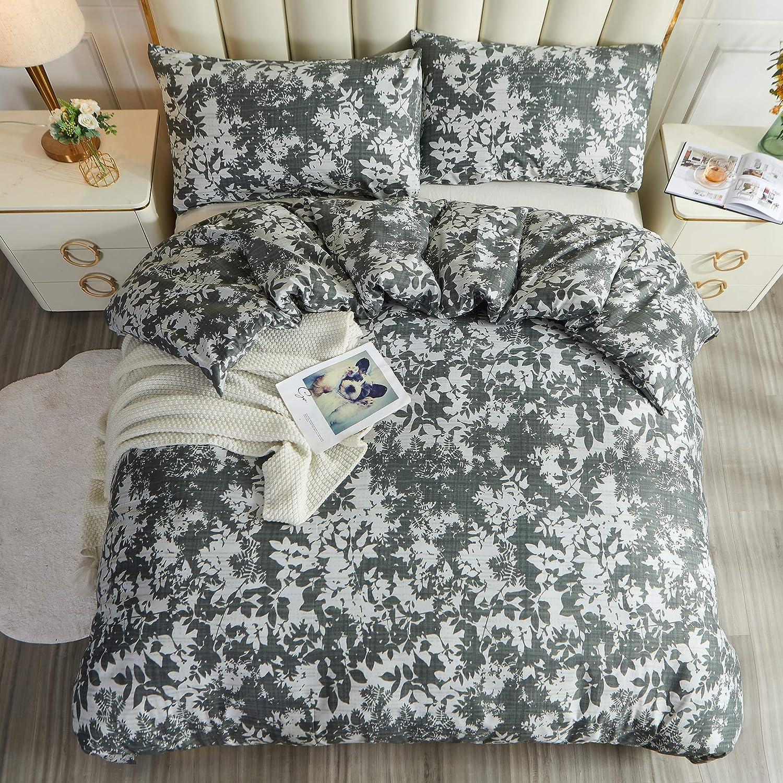 LAMEJOR Floral San Antonio Mall Duvet Cover Set Queen Luxury Max 84% OFF Size Hotel S 3-Piece