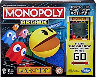 Monopoly Arcade Pac-Man Game; Monopoly Board Game for Kids Ages 8 and Up; Includes Banking and Arcade Unit