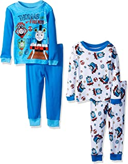 Thomas The Train Boys'  4-Piece Cotton Pajama Set
