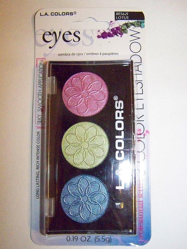 スロープ債務美しいL.A. COLORS 3 Color Eyeshadow - Lotus (並行輸入品)