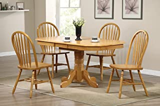 Sunset Trading Oak Selections Dining Table Set, Light Finish