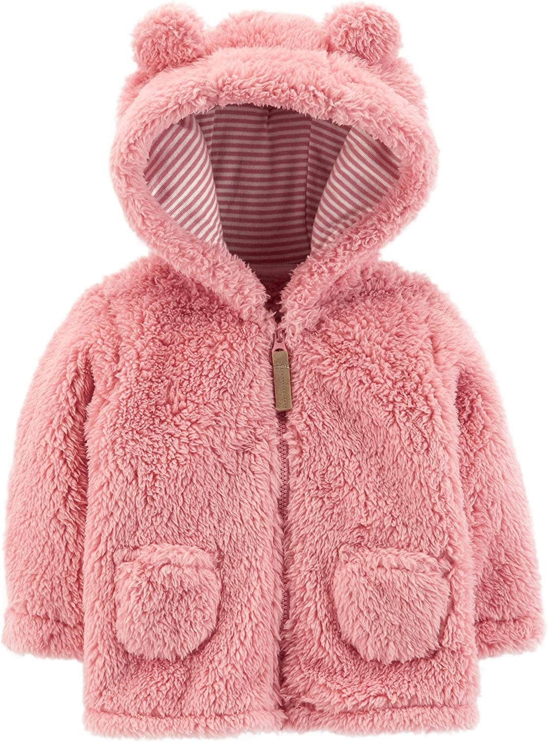 Carter's sold out Baby Girls' Hooded Sherpa Jacket Newborn Max 50% OFF