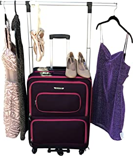 Suitcase Size Medium Hot Pink and Black