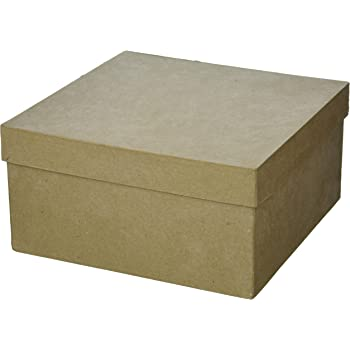 5-inch and 6-inch Darice Cardboard Paper-Mache Rectangle Box Set 4-inch