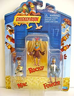 Rocky, Fowler and Mac Mini-Action Figure Set - Chicken Run Movie Collectible Series