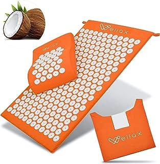 Wellax Mata do akupresury z poduszkami – wypełniona włóknami kokosowymi – rozluźnia napięcia i wspomaga krążenie krwi – ma...