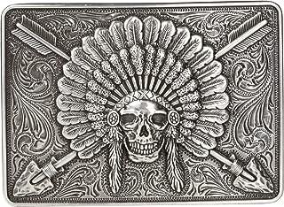 indian headdress belt buckle