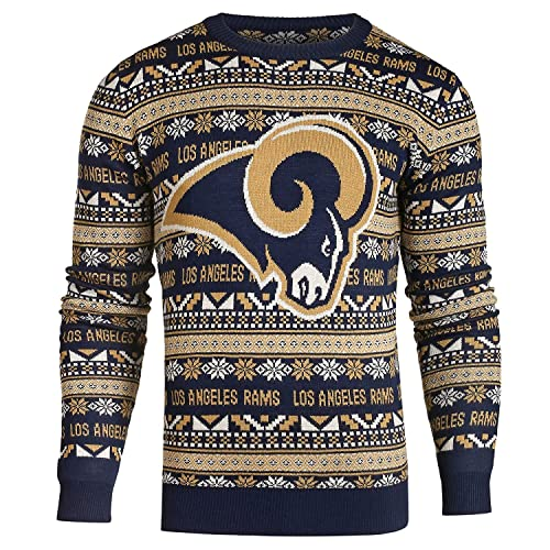 b904e988 Forever Collectibles NFL FOCO Men's Aztec Print Ugly Crew Neck Sweater