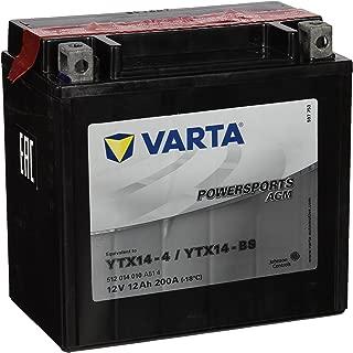 Varta 549655 Powersports AGM YTX14-BS Batería de Motocicleta, 12V, 12 Ah