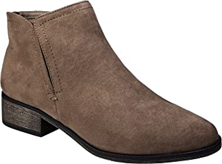 BAMBOO Womens Plain Faux Suede Ankle