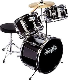 Music Alley Kids 3 Piece Beginners Drum Kit, Black, inch (DBJK02-BK)