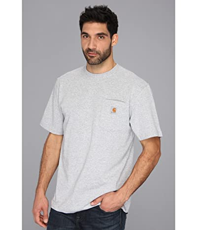 Carhartt Workwear Pocket S/S Tee K87 (Heather Gray) Men