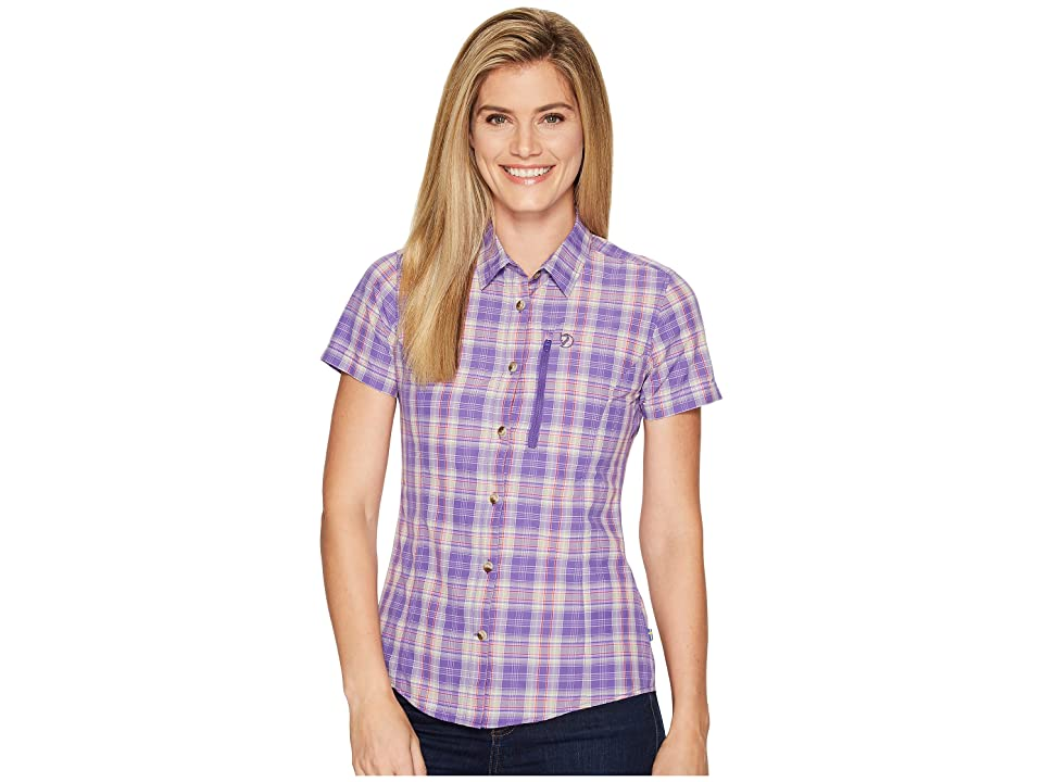 Fjallraven Abisko Hike Shirt Short Sleeve (Purple) Women