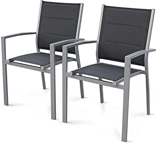 Amazon Fr Chaise Jardin Aluminium Textilene Fauteuils