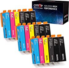 CMTOP Compatible Ink Replacement for HP 564 564XL Ink Cartridge, Use in HP Photosmart Premium 6520 5520 7510 5510 7525 C410A C309A B8550, HP Officejet 4620, HP Deskjet 3520 Printer, 18-Pack, 5 Color