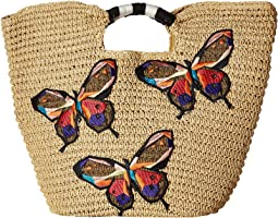 San Diego Hat Company - BSB1728 Paper Tote with Butterfly Embroidery