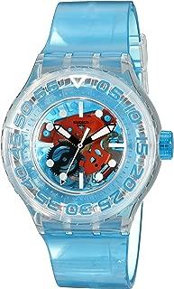 Swatch Unisex SUUK103 O-TINI Blue Skeleton Watch