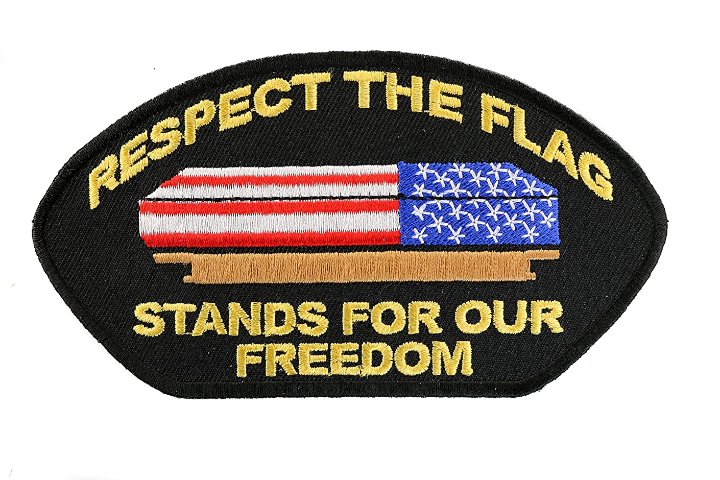 Respect the Flag Stands for our Freedom Shoulder Hat Embroidered Patch 5 inch IVANP2935