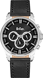 Lee Cooper Leather Casual Watch For Men LC06444.351 - Black