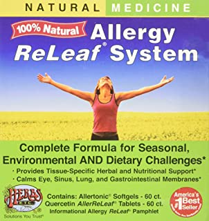 Allergy ReLeaf System - Natural Herbal Dietary Supplement - Safe and Effective Allergy Remedy - Promotes Sinus, Nasal, & B...