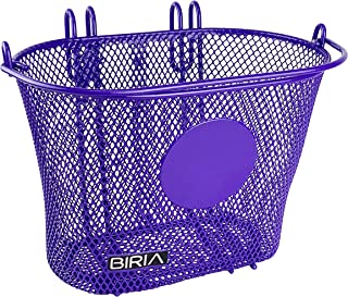BIRIA Basket with Hooks, Front, Removable, Children Wire mesh Small Kids Bicycle Basket. You can add Your Stickers, Diamet...