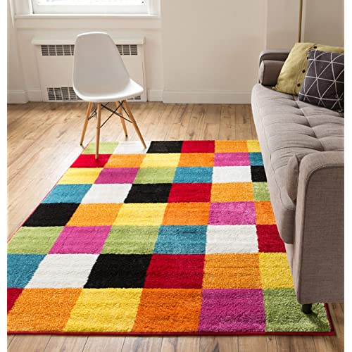 Bright Color Area Rugs Amazon Com
