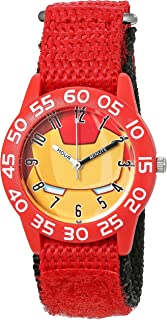 Marvel Boy's 'Iron Man' Quartz Plastic and Nylon  Watch, Color:Red (Model: W003247)
