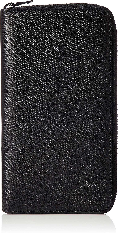 AX Armani Exchange Men's Rounded Zip Wallet