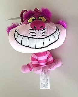 Theme Park Merchandise Disney Parks Cheshire Cat Big Head Plush Purse Hanger Keychain Key Chain