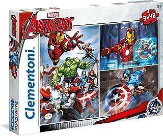 Clementoni - 25203.9 - Puzzle - Avengers Assemble - 3 en 1 - 144 Pièces