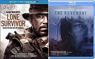 The Revenant Blu Ray & Lone Survivor True Story Courage Movie Bundle Set